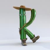 Cactus - letter