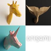 Polygonal Origami Trophy - Set 1