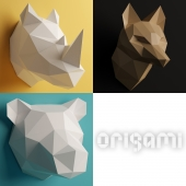 Polygonal Origami Trophy - Set 2