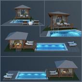 Wooden Gazebo & Swimming Pool