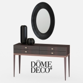 Dome deco console with mirror and vases