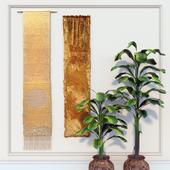 Decorative set.Olga de Amaral