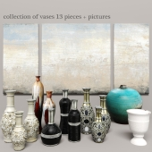 collection of vases 13 pieces + pictures