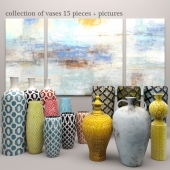 collection of vases 15 pieces + pictures