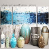 collection of vases 10 pieces + pictures