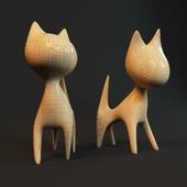 Figurine Wood a cat