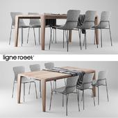 Ligne Roset SpiritOfForest Table and Ettoriano Chair
