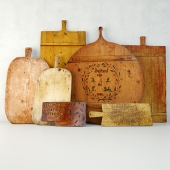 Antique Cutting Boards and Knife
