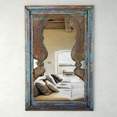 Blue Peacock Mirror