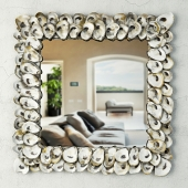 Oyster Shell Mirror / Currey & Co
