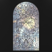 Stained glass for windows with arch