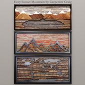 Fiery Sunset Mountain by Carpenter Craig