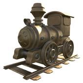 statuette steam locomotive