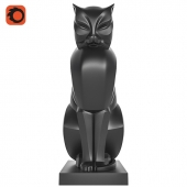 Cat Art Deco