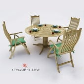 A set of furniture. Table + 4 chairs