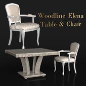 Woodline Elena Table & Chair