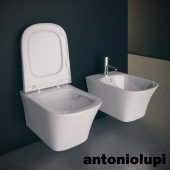 Suspended toilet and bidet. Antonio Lupi Cabo