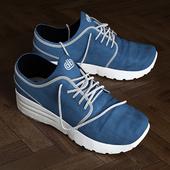 worn sneakers