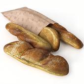 Rye baguette