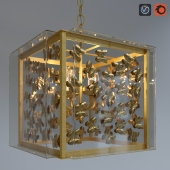 Gilded Butterfly Chandelier