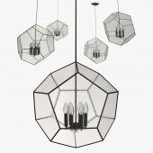 Plantation design - Cinco iron pendant