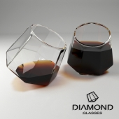 Two glasses of Dimanod Glasses