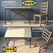 Chair and table IKEA KULLABERG / KAUSTBI