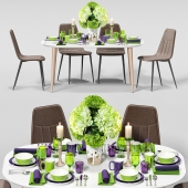 Table and chair serving LaForma