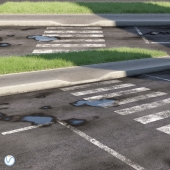 Road, sidewalk, curb, grass 2