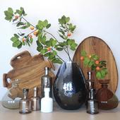 Декоративный набор с бутылками