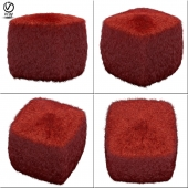 Galaxy red pouf