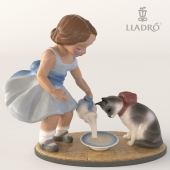 LLADRO KITTYS BREAKFAST TIME