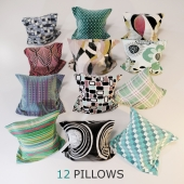 12 Decorative Pillows
