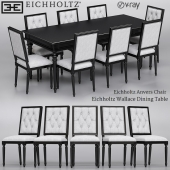 Eichholtz Anvers Chair and Wallace Dining Table