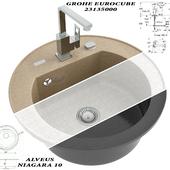 Кухонная мойка Alveus Niagara 10 + Grohe Eurocube