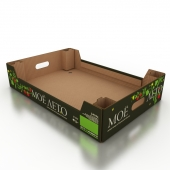 Corrugated box for vegetables