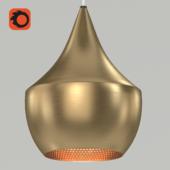 Chandelier Beat Light Fat Brass designed by Tom Dixon in 2007