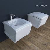 The toilet and bidet Hidra Ceramica