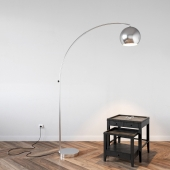Lamp Lussole and Side Table Bleeker