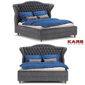 Kare Design Bed City Spirit Darkgrey