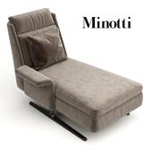 Deckchair (chair) Spencer Chaise Longue by Minotti
