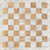 Chessboard made of marble