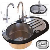 Kitchen sink and faucet ZorG