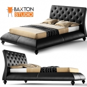 Metropolitan Wood and Leather Contemporary Queen Bed