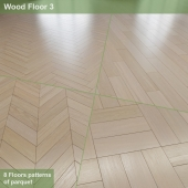 "8 parquet layout options # 2 | Oak ""Winter's Tale"""