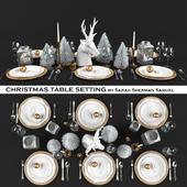 Candlelit christmas table