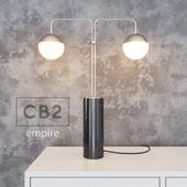 CB2 - empire table lamp