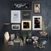 Gold Decorative Set 2