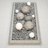 Flower bad stone wite pebble