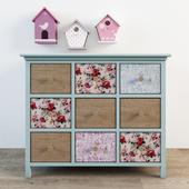 Children's chest of drawers Angelique Maisons du monde and birdhouses